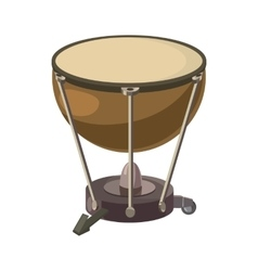 Drum icon in cartoon style vector image vector image