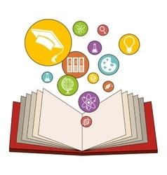 Educational books design vector