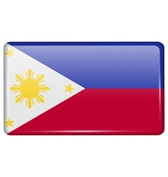 Flags Philippiines in the form of a magnet on vector image vector image