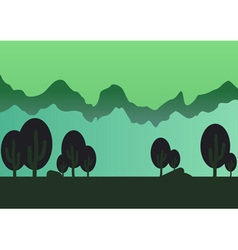 Game forest parallax background vector