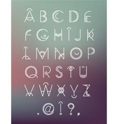 Geometric hipster modern creative font abc vector