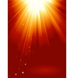golden light burst vector image vector image