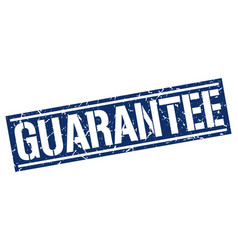 Guarantee square grunge stamp vector