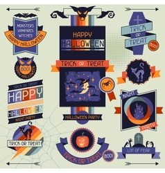 Halloween banners badges and design elements vector image