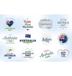 Happy australia day design vector