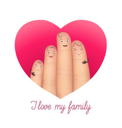 I love my family poster vector
