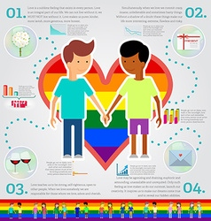 Love marriage couple of two men infographic set vector