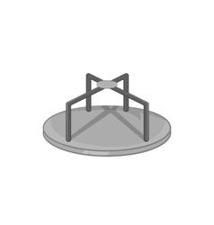 Merry go round icon black monochrome style vector