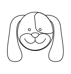 Monochrome blurred contour with male dog head vector