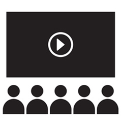 Online audience icon vector