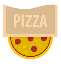 pizza emblem for pizzeria icon isolated vector image vector image