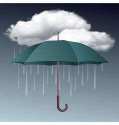 Rainy weather icon with clouds and umbrella vector image vector image