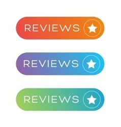 Reviews button speech bubble vector