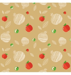 Rosh Hashanah background with pomegranates and vector image