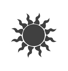 simple sun icon on white background abstract vector image vector image