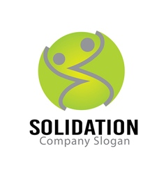 Solidation design vector