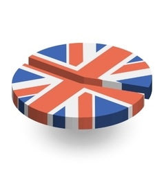 United kingdom flag pie chart vector