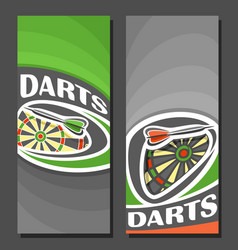 vertical banners for darts vector image