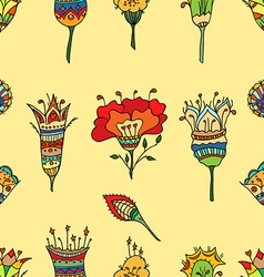 Flower patterned background vector