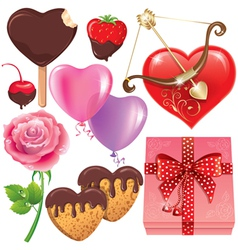 Valentines day set vector