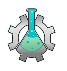 Lab gear logo icon symbol vector