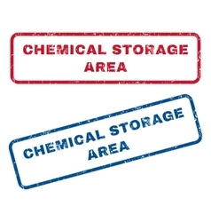 Chemical storage area rubber stamps vector