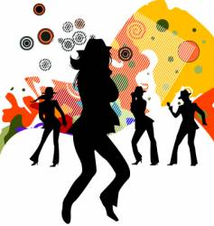 sexy party people vector image