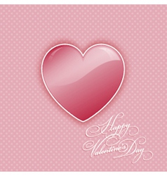 valentines day heart background 0412 vector image