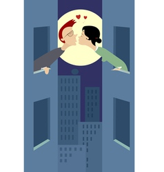 Night romance vector