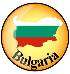button Bulgaria vector image