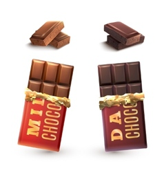 Chocolate bars set vector