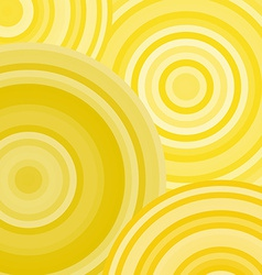 Yellow ripples circles abstract geometric vector
