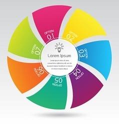 Business infographic circle diagram presentation vector