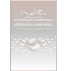 realistic pearls vector image