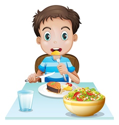 A hungry young man vector image vector image