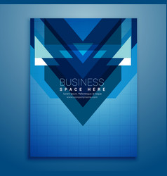 Abstract blue brochure flyer design vector