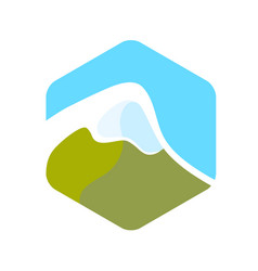 Beautiful logo with alps vector