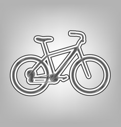 Bicycle bike sign pencil sketch vector