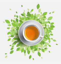 Black tea cup concept with vector