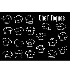 Chef and cook hats caps or toques vector