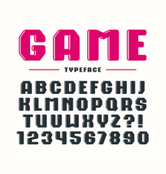 Decorative bold sanserif font with rounded corners vector