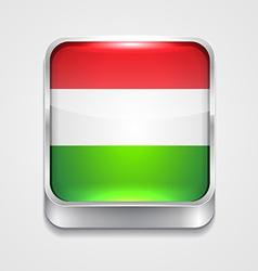 Flag of hungary vector