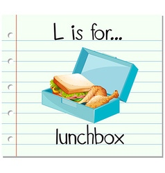 Flashcard letter l is for lunchbox vector