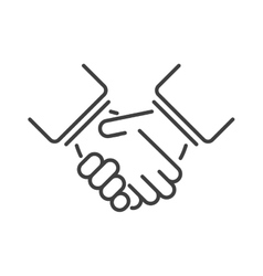 Friendship icon people sign team together teamwork vector image