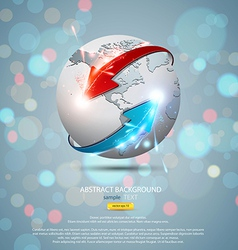 globe concept 2 vector image vector image