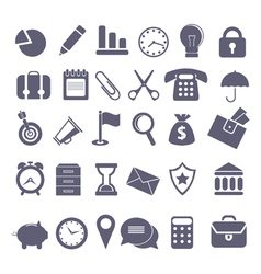 Icon set vector image vector image
