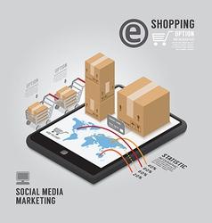 Infographic social media marketing template vector