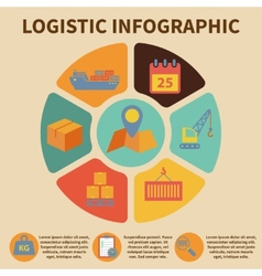 Logistic infographic icons vector