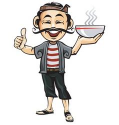 Mascot of Sate Madura vector image vector image