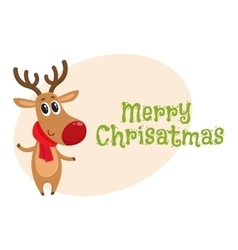 Merry christmas greeting card template with vector